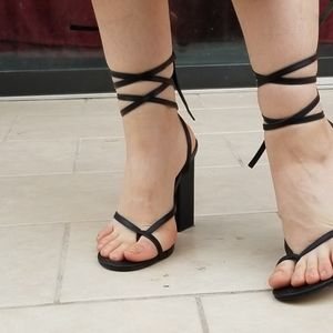 F21 thong Strappy sandals